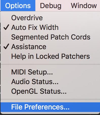 オプションのファイル初期設定