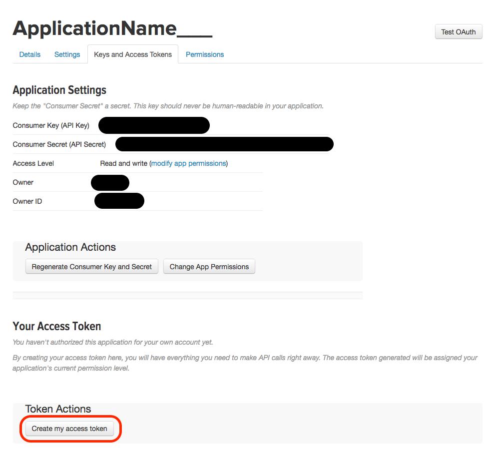 API Key and Token